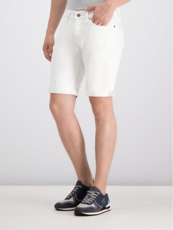 Guess Guess Pantaloncini di jeans M92 D01D3 Bianco Regular Fit