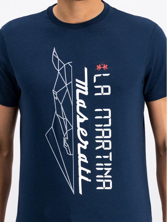 La Martina La Martina T-shirt OMRM01 JS092 Blu scuro Regular Fit