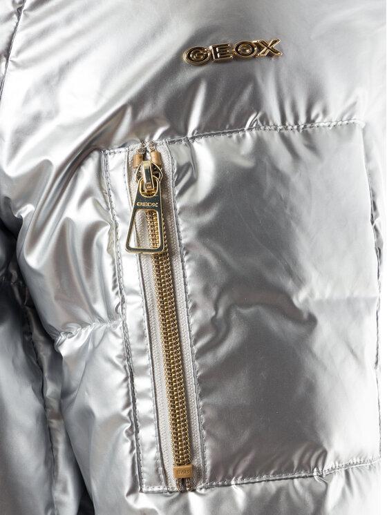 Geox Geox Daunenjacke Backsie W9429F T2593 F1038 Silberfarben Regular Fit