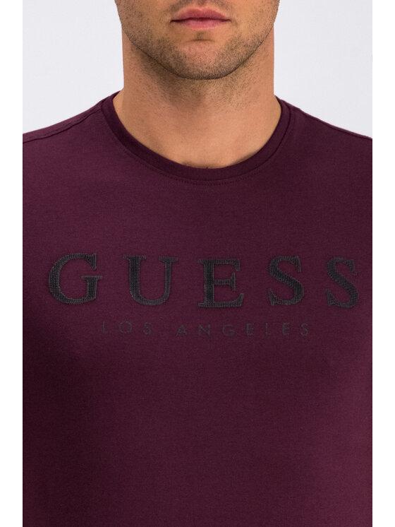 Guess Guess T-Shirt Original M94I39 J1300 Μπορντό Slim Fit