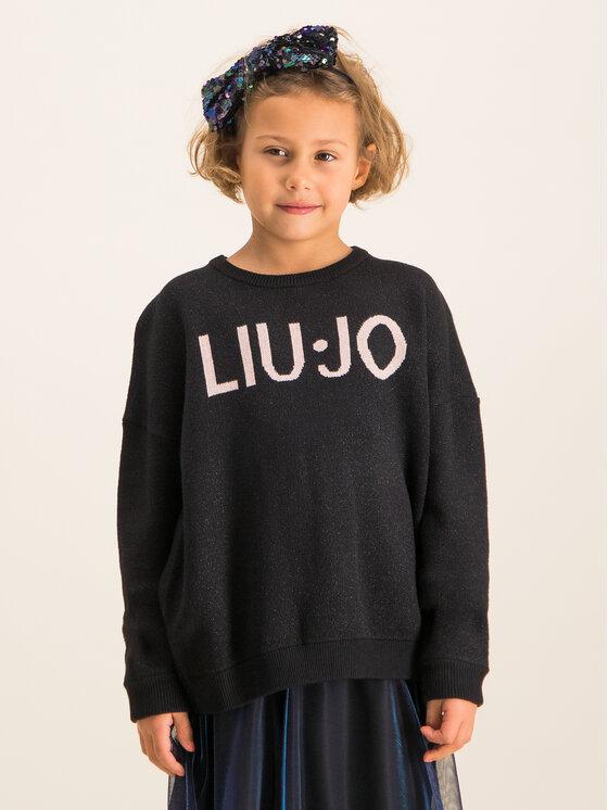 Liu Jo Kids Megztinis Maglia Chiusa G69215 MA09E Juoda Regular Fit