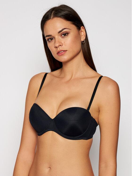 Calvin Klein Underwear Bardotė liemenėlė Perfectly Fit 0000F2660E Juoda