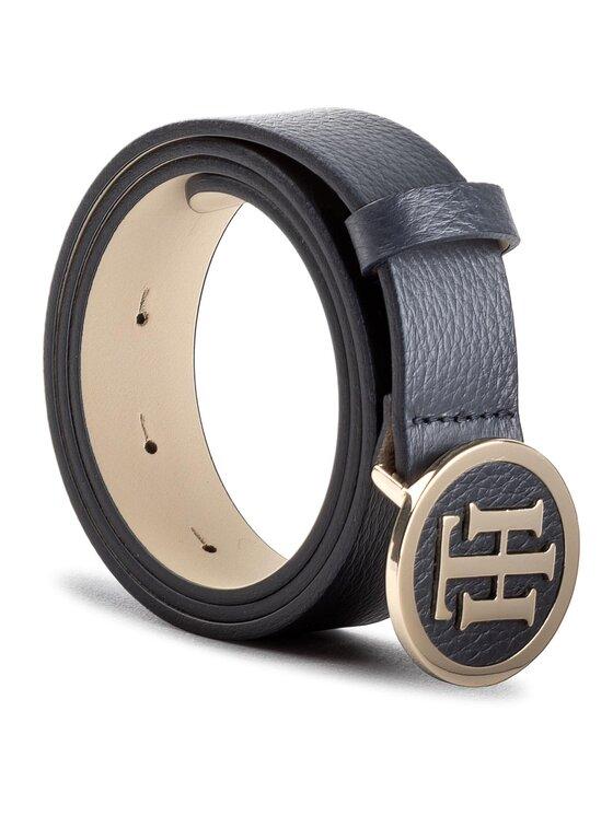 Tommy Hilfiger Tommy Hilfiger Moteriškas Diržas Th Round Buckle Belt 3.0 AW0AW05366 75 Tamsiai mėlyna