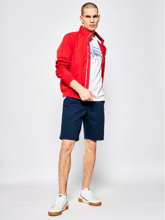 Pepe Jeans Pepe Jeans Marškinėliai Moe PM507172 Balta Regular Fit