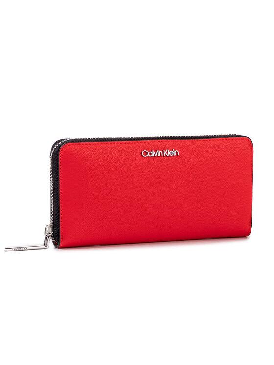 Calvin Klein Calvin Klein Duży Portfel Damski Ck Must Large Ziparound K60K605675 Czerwony