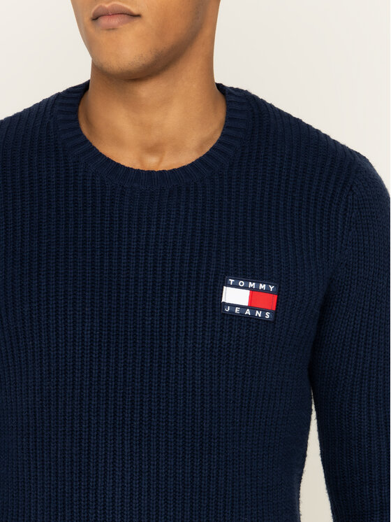 Tommy Jeans Tommy Jeans Sveter Tjm Tommy Badge DM0DM07418 Tmavomodrá Regular Fit