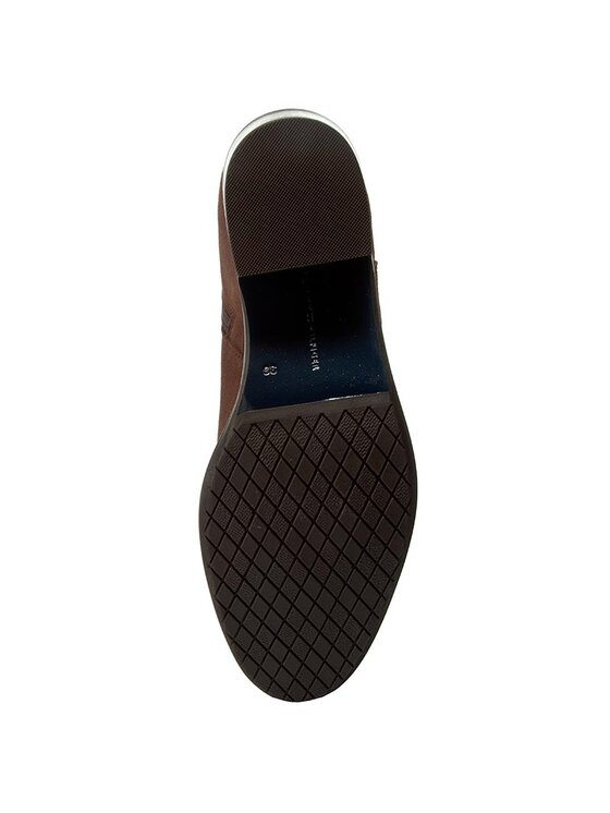 Tommy Hilfiger Tommy Hilfiger Členková obuv New Parson 1B FW56821545 Hnedá