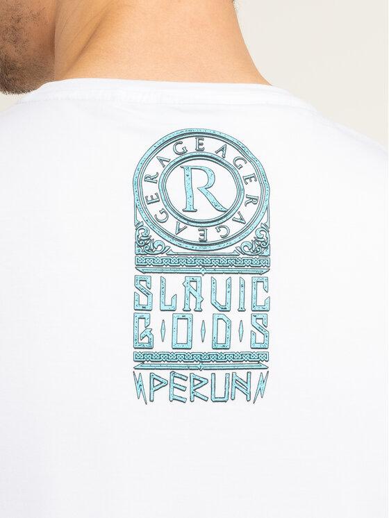 Rage Age Rage Age T-shirt Perun Bianco Slim Fit