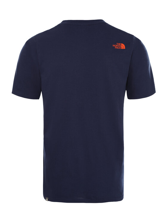 The North Face The North Face T-Shirt Simple Dome NF0A2TX5JC6 Granatowy Regular Fit