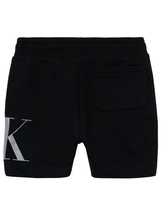 Calvin Klein Jeans Calvin Klein Jeans Szorty sportowe Hybrid Logo IB0IB00798 Czarny Regular Fit