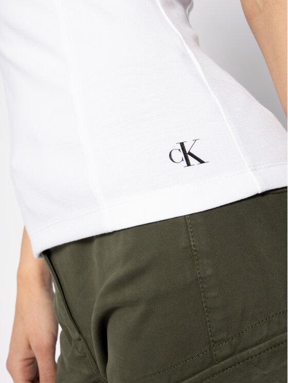 Calvin Klein Jeans Calvin Klein Jeans Топ Monogram J20J213579 Бял Regular Fit