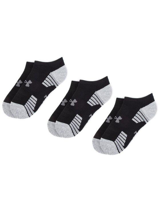 Under Armour Under Armour Set de 3 perechi de șosete medii pentru bărbați Heatgear Tech Locut Socks 3Pk 1312439-001 Negru