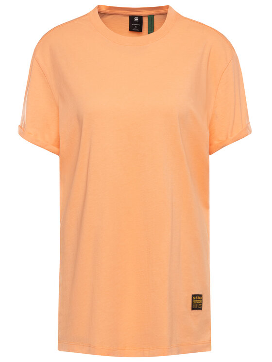 G-Star Raw G-Star Raw T-Shirt Lash Fem Wmn D16902-4107-B454 Pomarańczowy Loose Fit