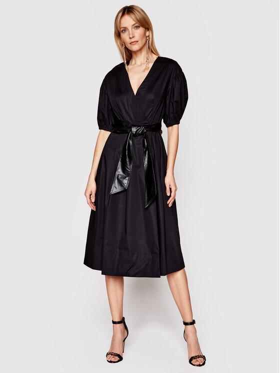 TwinSet Sukienka codzienna 211TT2490 Czarny Regular Fit
