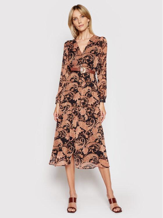 Rinascimento Kasdieninė suknelė CFC0102066003 Ruda Regular Fit