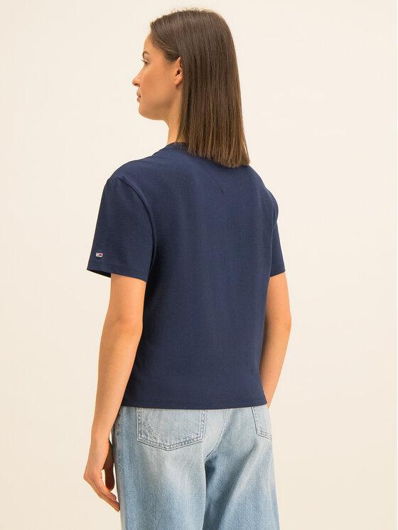 Tommy Jeans Tommy Jeans T-Shirt Multicolor Logo DW0DW07529 Dunkelblau Regular Fit