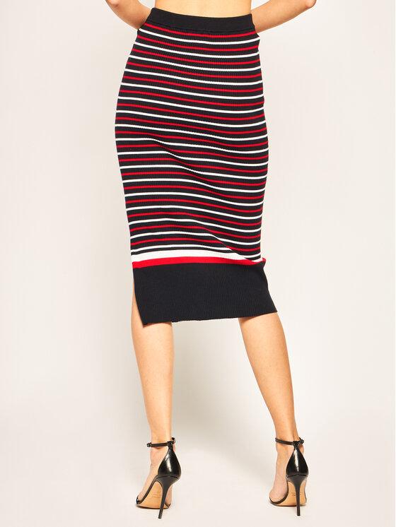 Tommy Hilfiger Tommy Hilfiger Puzdrová sukňa Vanessa WW0WW26524 Tmavomodrá Slim Fit