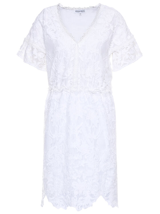Silvian Heach Silvian Heach Sukienka letnia Abamonti PGP20274VE Biały Regular Fit