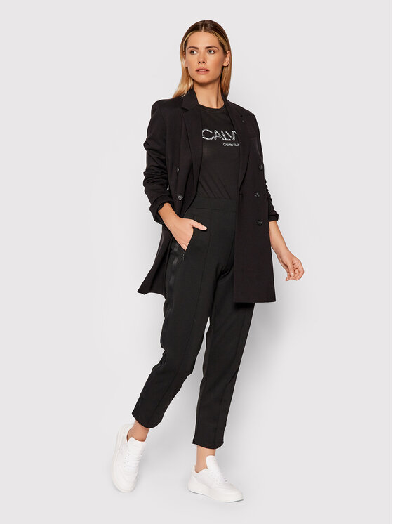 Calvin Klein Calvin Klein Тишърт Print K20K202996 Черен Slim Fit