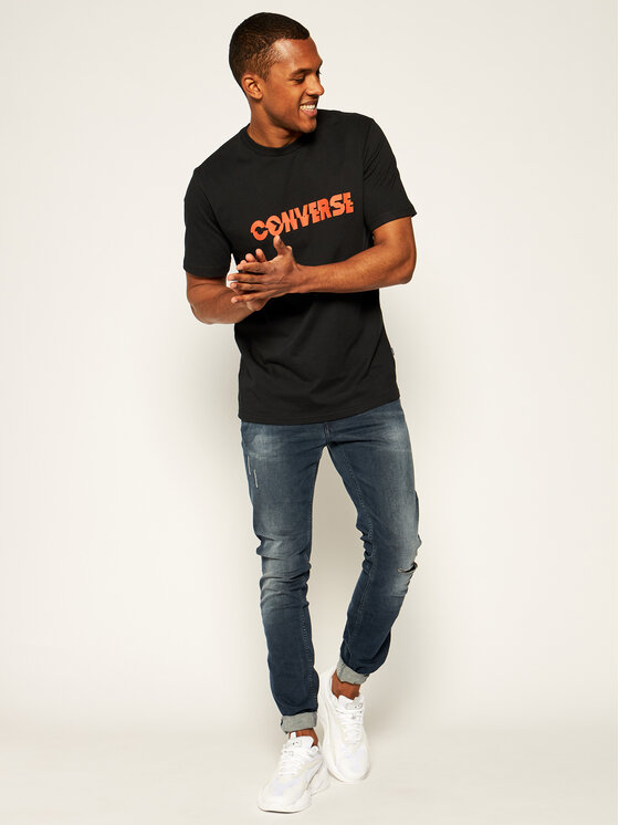 Converse Converse T-Shirt Table Tee 10019599-A02 Μαύρο Regular Fit