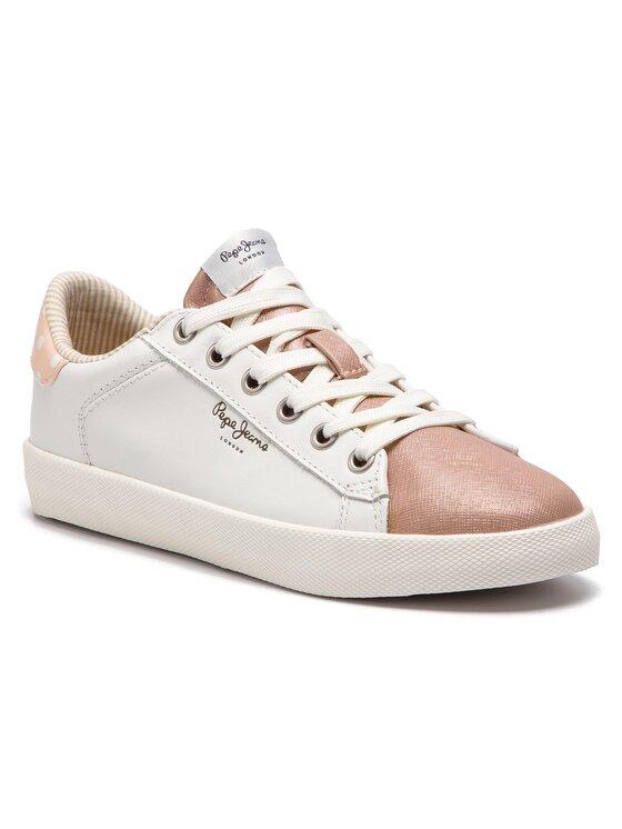 Pepe Jeans Pepe Jeans Sneakersy Kioto Dotty PLS30847 Biela
