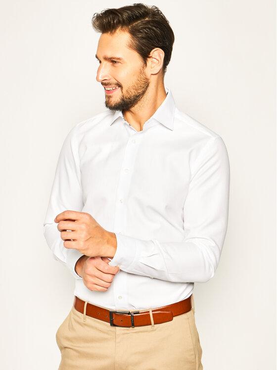 Emanuel Berg Marškiniai Crown PEB47813 Balta Slim Fit