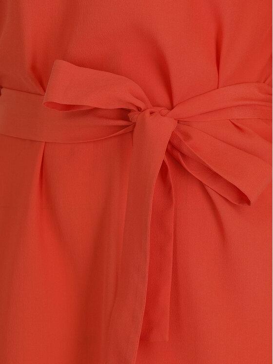 TwinSet TwinSet Koktejlové šaty 191TT2074 Oranžová Regular Fit