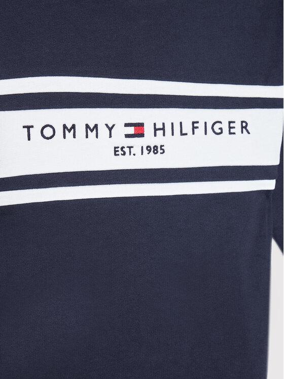 Tommy Hilfiger Tommy Hilfiger Dres Essential Blocking KB0KB06712 D Granatowy Regular Fit