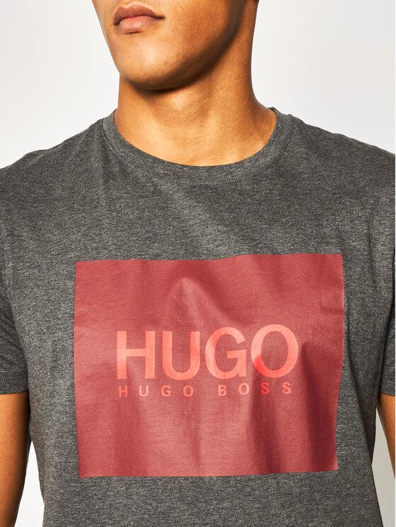 Hugo Hugo Тишърт Dolive201 50422155 Сив Regular Fit