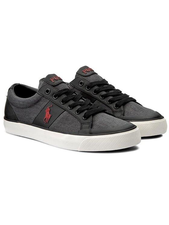 Polo Ralph Lauren Polo Ralph Lauren Πάνινα παπούτσια Ian A85 XZ4Z6 XY4Z6 XW4QJ Μαύρο