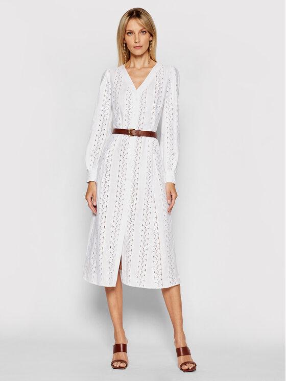 Levně MICHAEL Michael Kors Letní šaty MS18Y461QG Bílá Regular Fit