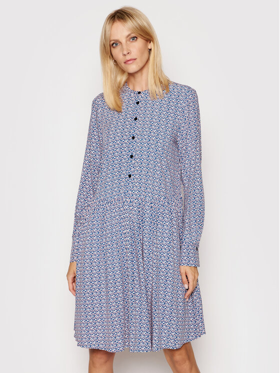 Tommy Hilfiger Sukienka koszulowa Poplin WW0WW29560 Kolorowy Regular Fit