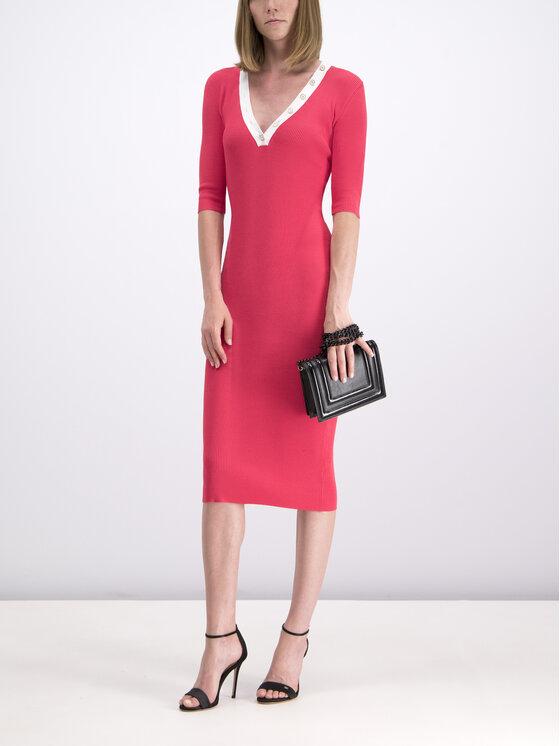 Elisabetta Franchi Elisabetta Franchi Φόρεμα υφασμάτινο AM-34B-92E2-V190 Ροζ Slim Fit