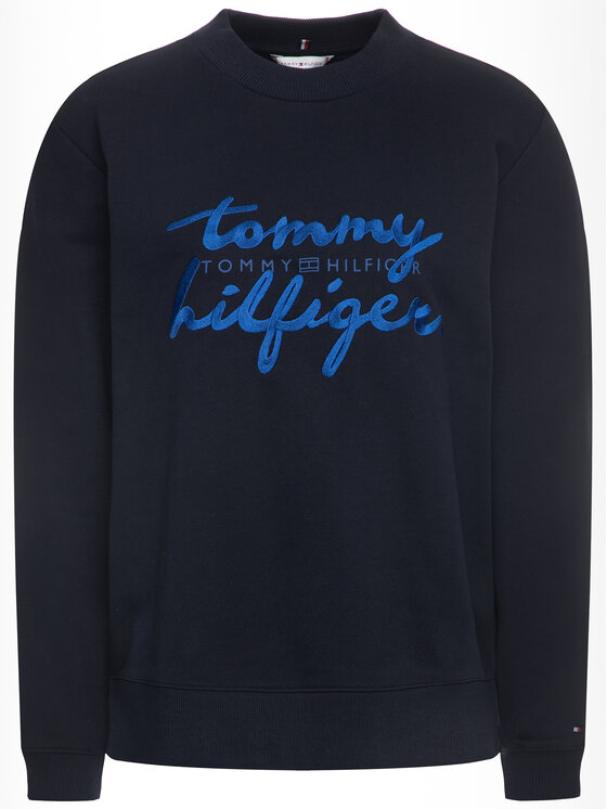 Tommy Hilfiger Tommy Hilfiger Mikina Romy WW0WW26669 Tmavomodrá Regular Fit
