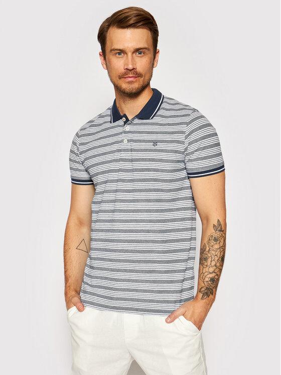 Jack&Jones PREMIUM Polo marškinėliai Bluwin 12190262 Tamsiai mėlyna Regular Fit