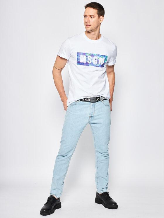 MSGM MSGM T-Shirt 2840MM234 207098 Bílá Regular Fit