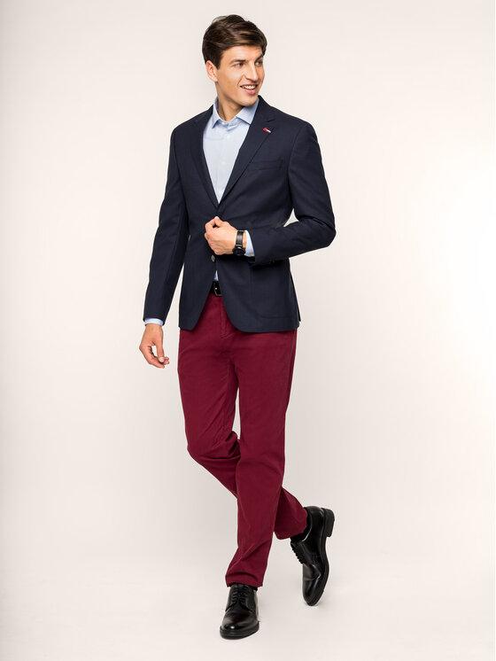Tommy Hilfiger Tailored Tommy Hilfiger Tailored Koszula Stretch Print Classic TT0TT05560 Niebieski Slim Fit