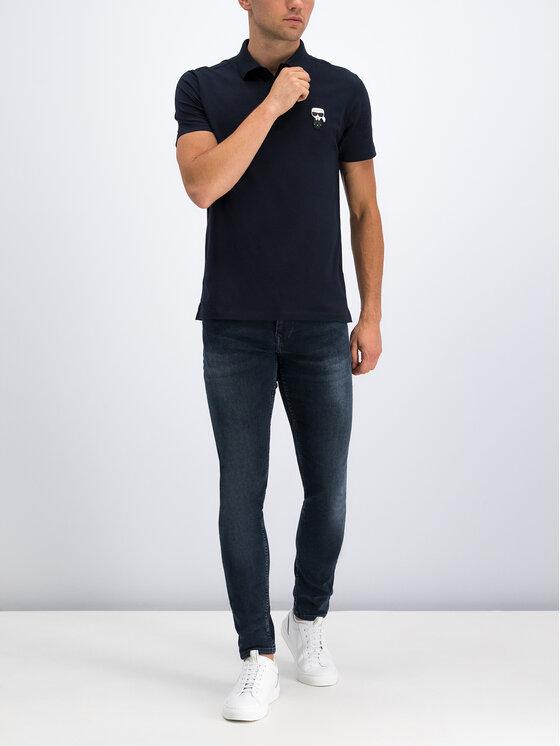 KARL LAGERFELD KARL LAGERFELD Тениска с яка и копчета 755019 592221 Червен Regular Fit