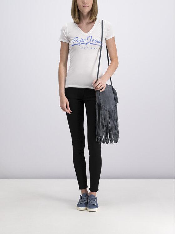 Pepe Jeans Pepe Jeans T-Shirt Andrea PL504165 Λευκό Longline Fit