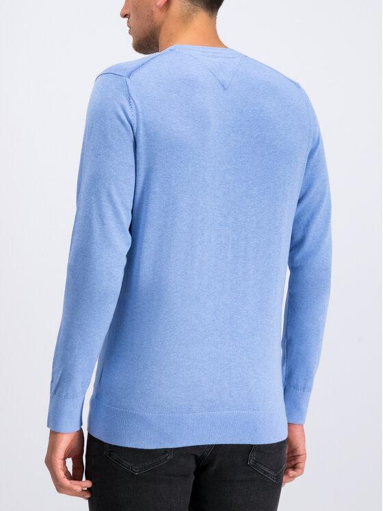Tommy Hilfiger Tommy Hilfiger Πουλόβερ Organic Cotton MW0MW10857 Μπλε Regular Fit