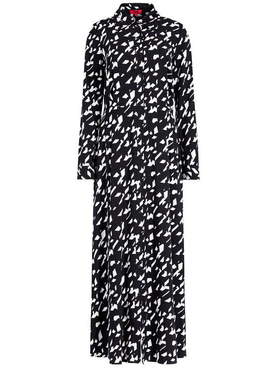 Hugo Hugo Φόρεμα πουκάμισο Eranka 50422129 Μαύρο Regular Fit