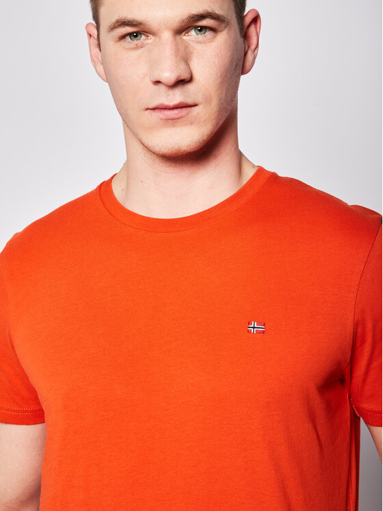 Napapijri Napapijri T-Shirt Selios 2 NP0A4EGG Orange Regular Fit