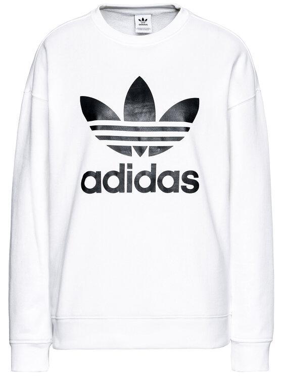 adidas adidas Majica dugih rukava Trefoil GN2961 Bijela Regular Fit