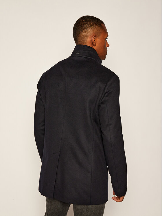 Joop! Joop! Vlněný kabát 17 JO-103Maronello 30023092 Tmavomodrá Regular Fit