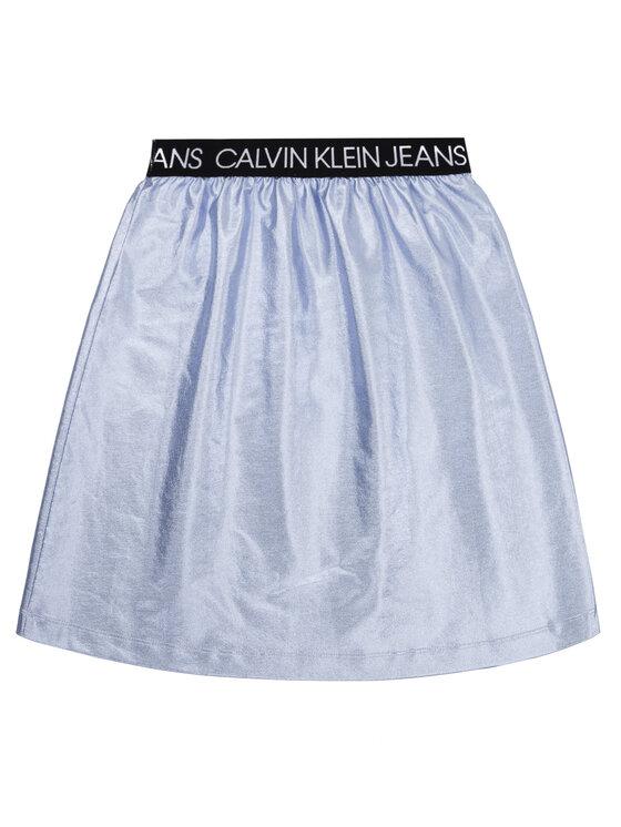 Calvin Klein Jeans Calvin Klein Jeans Jupe Metallic Foil IG0IG00415 Bleu Regular Fit