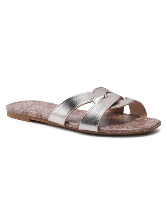 Coach Klapki Essie Leather Sandal C2311 11002151EDC Złoty