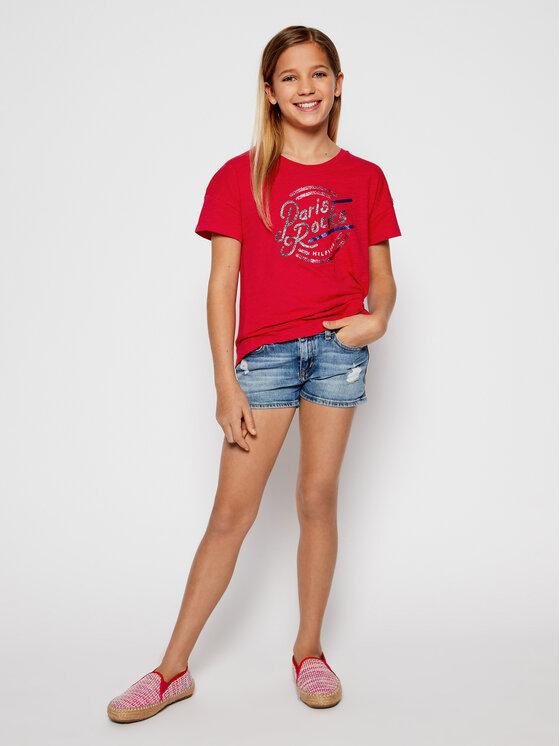 Tommy Hilfiger Tommy Hilfiger T-Shirt KG0KG04671 D Růžová Regular Fit