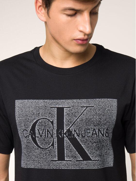Calvin Klein Jeans Calvin Klein Jeans T-shirt Monogram Box J30J313270 Noir Regular Fit