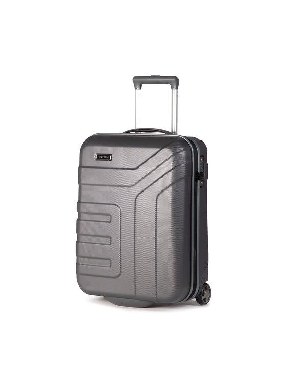 Travelite Mažas Kietas Lagaminas Vector 72007-04 Pilka