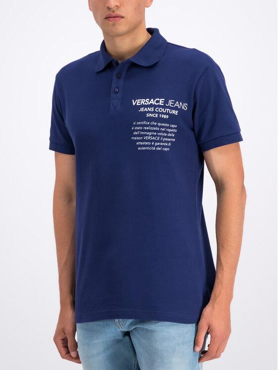 Versace Jeans Versace Jeans Polo marškinėliai B3GTB7P2 Tamsiai mėlyna Regular Fit